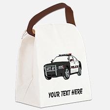 Police Car (Custom) Canvas Lunch Bag