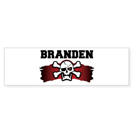 branden is a pirate Bumper Sticker