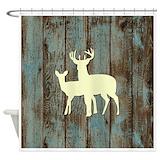 Deer antler Shower Curtains