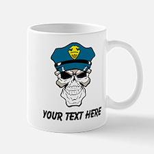 Police Skull (Custom) Mugs