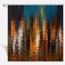 Abstract Rock Spires Shower Curtain