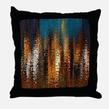 Abstract Rock Spires Throw Pillow