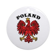 Poland Eagle Ornament (Round)