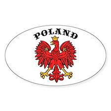 Poland Eagle Oval Decal
