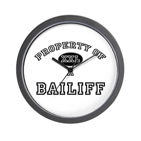 Property of a Bailiff Wall Clock
