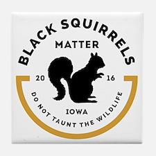 Black Squirrels Matter Iowa Tile Coaster