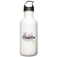 Hampton surname artist Water Bottle
