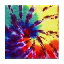 Tie-Dyed Tile Coaster