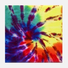 Tie-Dyed Tile Coaster