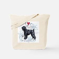 Black Russian Terrier Tote Bag