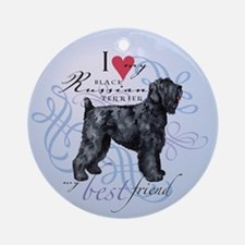 Black Russian Terrier Ornament (Round)