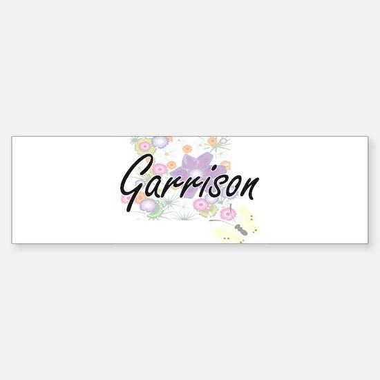 Garrison surname artistic design wi Bumper Bumper Bumper Sticker