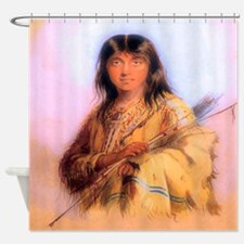 Hunting Woman Shower Curtain