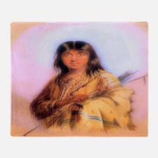 Hunting Woman Throw Blanket