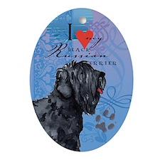 Black Russian Terrier Oval Ornament