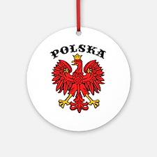 Polska Eagle Ornament (Round)