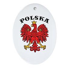 Polska Eagle Oval Ornament