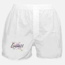 Everett surname artistic design with Boxer Shorts