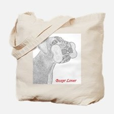 Boxer Lover drawing Tote Bag