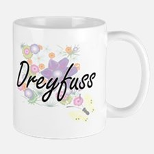 Dreyfuss surname artistic design with Flowers Mugs