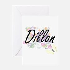 Dillon surname artistic design with Greeting Cards