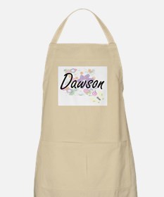 Dawson surname artistic design with Flowers Apron