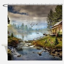 Wildlife Landscape Shower Curtain