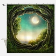 Magic Moon Tree Shower Curtain