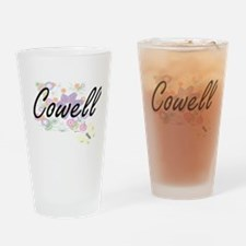 Cowell surname artistic design with Drinking Glass