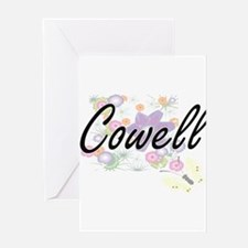 Cowell surname artistic design with Greeting Cards
