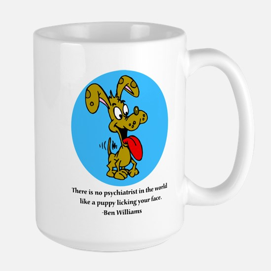 Happy Puppy Large Mug