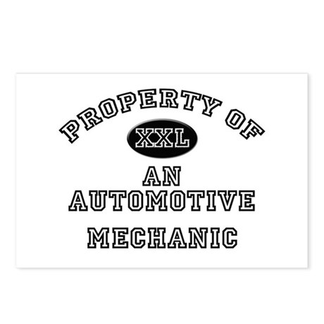 Property of an Automotive Mechanic Postcards (Pack