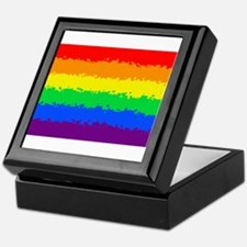 Gay Pride Flag- 8 Bit! Keepsake Box