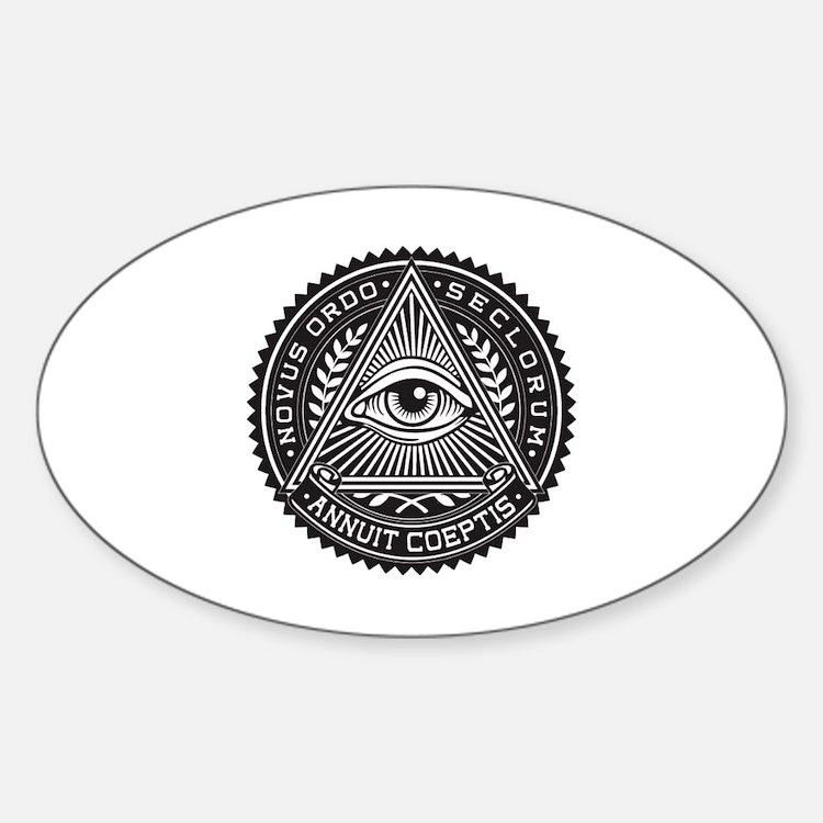 Cute Illuminati Sticker (Oval)