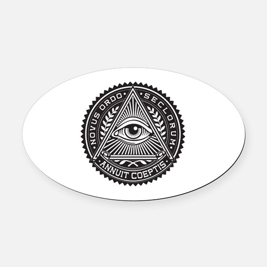 Cute New world order Oval Car Magnet