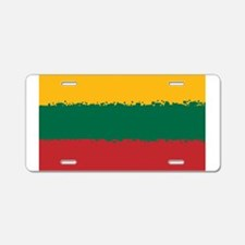 8 bit flag of Lithuania Aluminum License Plate