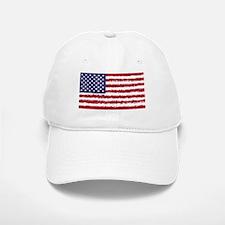 8 bit flag of Baseball Baseball Cap
