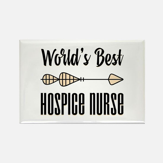 World's Best Hospice Nu Rectangle Magnet (10 pack)