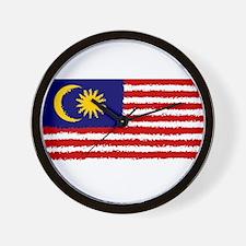 8 bit flag of Malaysia Wall Clock