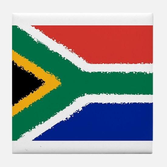 8 bit flag of South Africa Tile Coaster