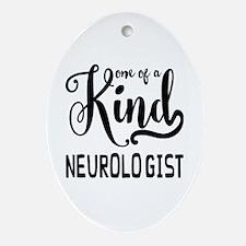 One of a Kind Neurologist Oval Ornament