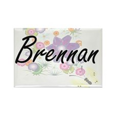 Brennan surname artistic design with Flowe Magnets