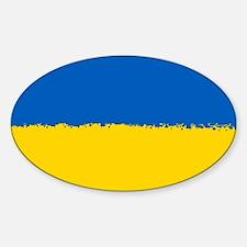 8 bit flag of Ukraine Decal
