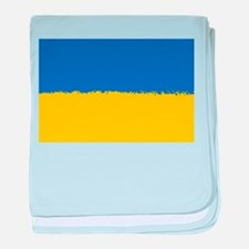8 bit flag of Ukraine baby blanket
