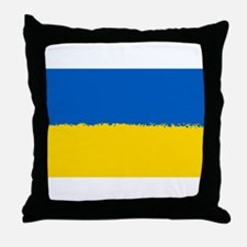 8 bit flag of Ukraine Throw Pillow