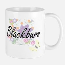 Blackburn surname artistic design with Flower Mugs