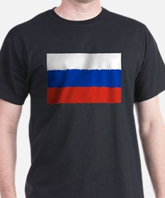 8 bit flag of Russia T-Shirt
