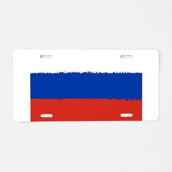 8 bit flag of Russia Aluminum License Plate