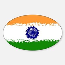 8 bit flag of India Decal