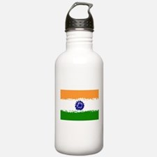 8 bit flag of India Water Bottle